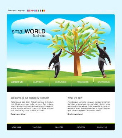 Website Template Stock Photo - 8307402