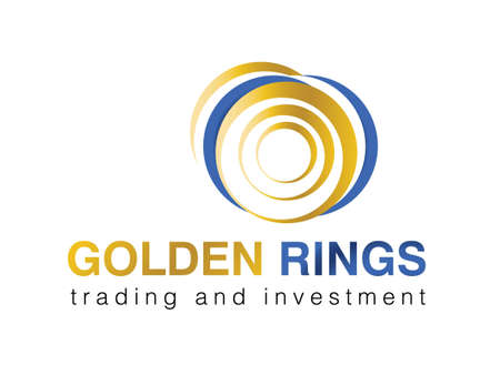 international investments:  illustration of logo for trading and investment company.