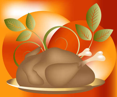 Thanksgiving Concept Illustration Image, you can use it for Thanksgiving  sale time or seasons Stock Illustration - 8308080
