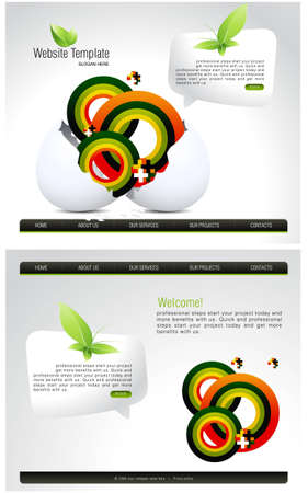 Website Template . Stock Photo - 8307426