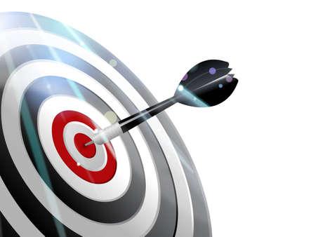comp�titivit�:  illustration de la Dart � droite sur la cible.