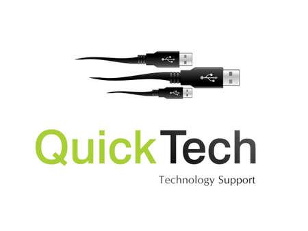 information technology logo:   illustration of logo design for information technology company.