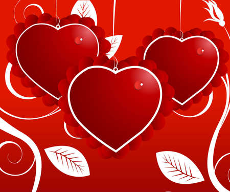 Valentine Illustration, perfect concept for valentine's day easy to use it as greeting card, poster, flyer, Ad.  Stock Illustration - 8308153