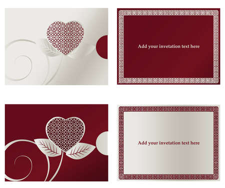 blank expression: Invitation card for Wedding  or engaged party.