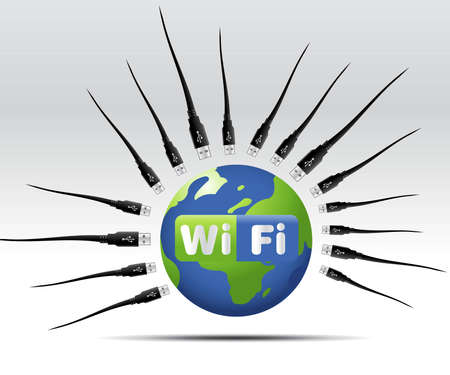 simple illustration for wifi web button or icon Stock Illustration - 8307772