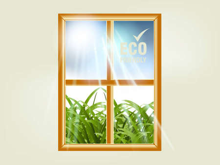 illustration of ecology concept. illustration