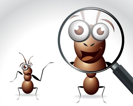 Antic Ant Character, cartoon Illustration.