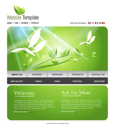 Website Template Stock Photo - 8307539