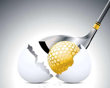 Golf Sport concept illustration . Vector