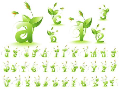 illustration of font design alphabet.