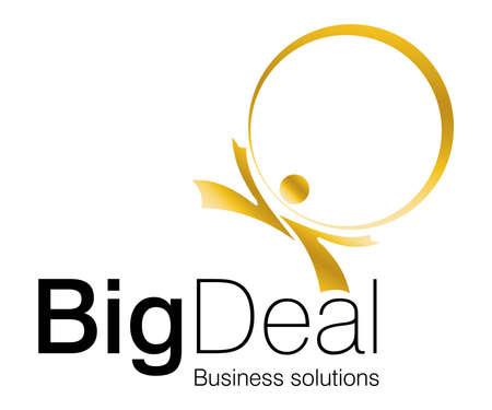 Conception de logo des investissements et de projets financiers.