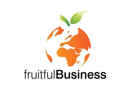 world trade: Logotipo de Business fruct�fera para corporaciones de negocios inteligentes Vectores