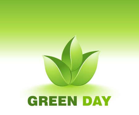 Be Green Illustration  Vector