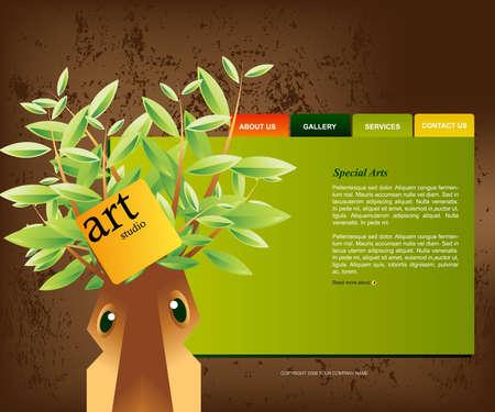 Website Template Stock Vector - 8300296