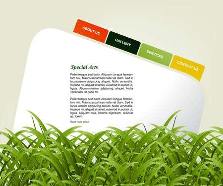 Website Template Stock Vector - 8300228
