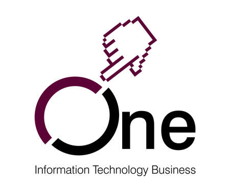one to one: Logo Design for information technology Company.