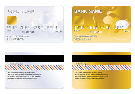 plastic texture: Professional design and Highly detailed credit card. Illustration