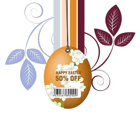 Easter Illustration Background, Easter card template. Stock Vector - 8299922