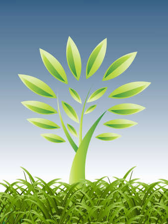 Plant Growth Background, theme of growth  . Stock Vector - 8300202