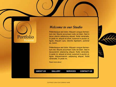 Website Template Stock Vector - 8300017