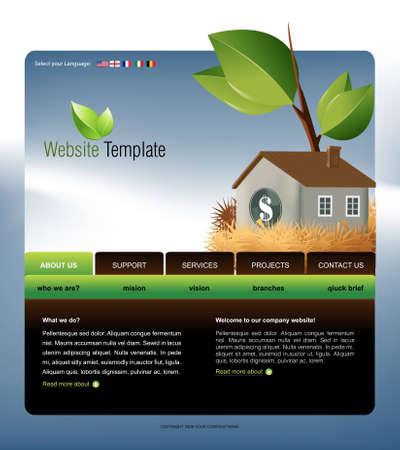 Website Template  Stock Vector - 8300348