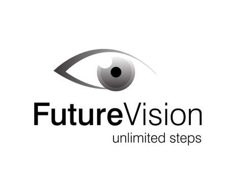 optics:  illustration of eye logo, future vision