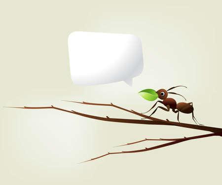 antrey: Team Work Spirit, set of ants working together .
