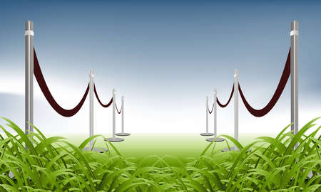 illustration of green carpet on natural background Stock Vector - 8300211