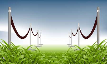 illustration of green carpet on natural background   Vector