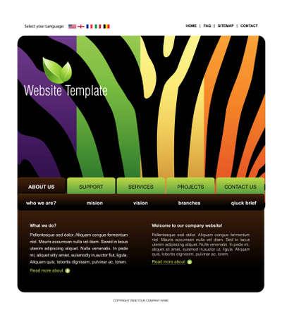 Website Template Stock Vector - 8301080