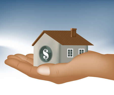 real estate investment, get your home loan easy Vector