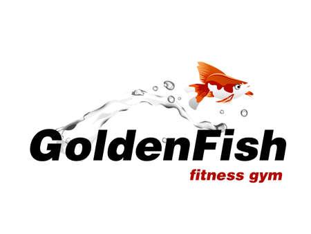 illustration of logo design for sport gym.  イラスト・ベクター素材