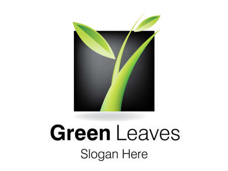 leaf logo: Growth symbol Design for Business Company. Illustration