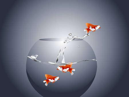 illustration of Golden fish Stock Vector - 8301613