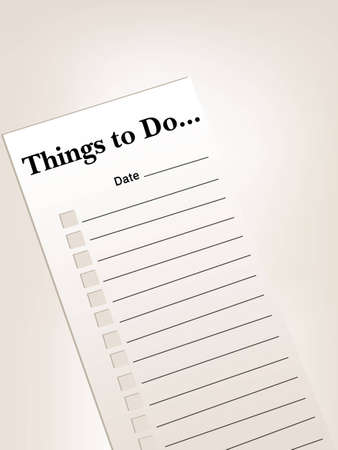 to do list or things to do list Stock Vector - 8301653