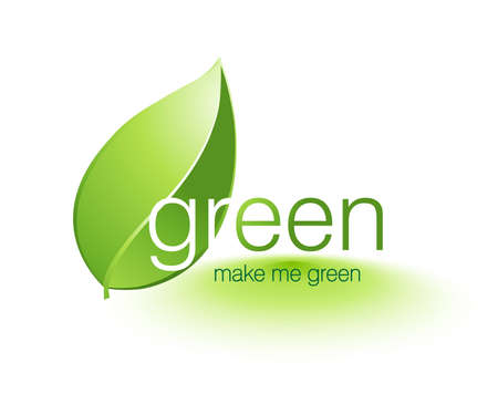 badge logo: Be Green Illustration