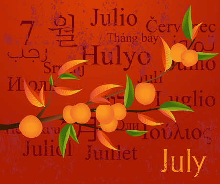 polyglot: 2009 Calendar concept, simple to edit it, all the dates trusted from the PC calendar  Illustration