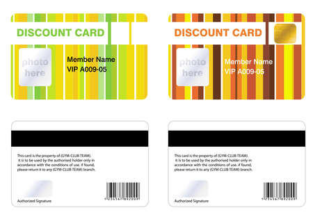 access card: Discount membership card, for a special offers.