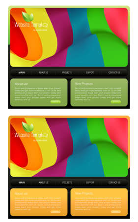 Website Template  Stock Vector - 8297768
