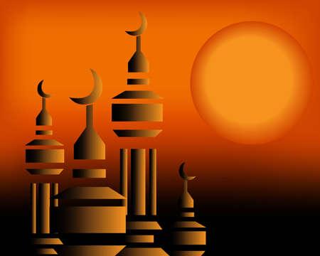 allah: Islamische Illustration
