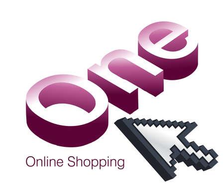 Logo Design for Online Shopping website. Stock Vector - 8301460