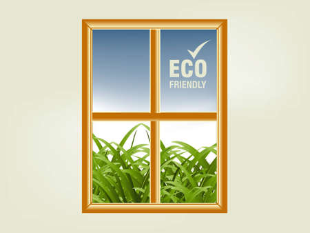 illustration of ecology concept. Vector