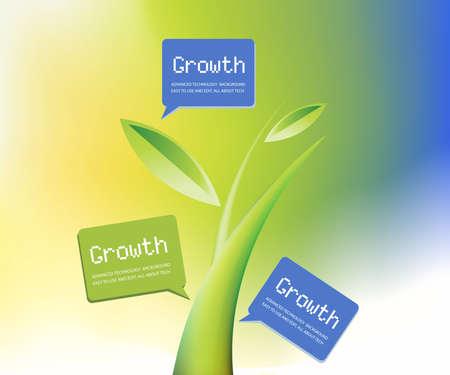 evolucion: Fondo de crecimiento, tema del crecimiento de plantas. Vectores