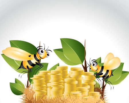 Happy Bee Character, cartoon Illustration. Stock Vector - 8301977