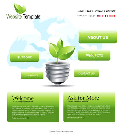 Website Template Stock Vector - 8297997