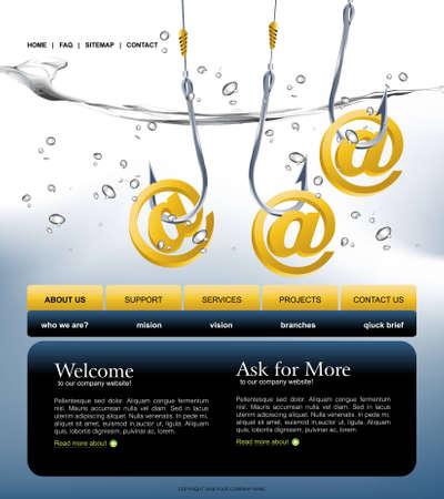 Website Template Stock Vector - 8297817