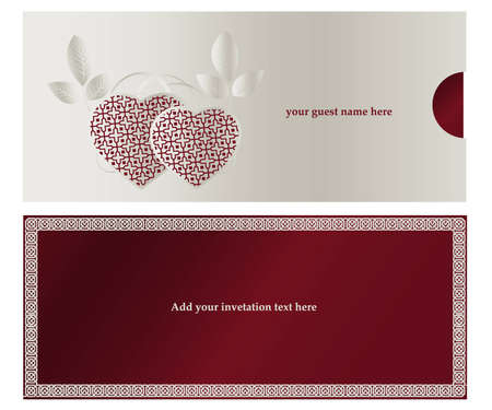 Invitation card for Wedding  or engaged party. Vector