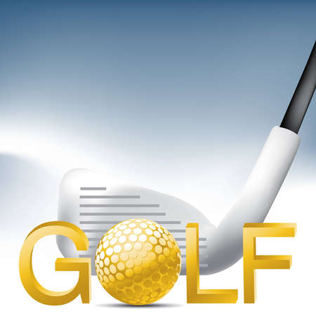 Golf Sport concept illustration . Vector