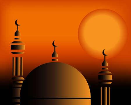 hajj: Islamic Illustration Illustration