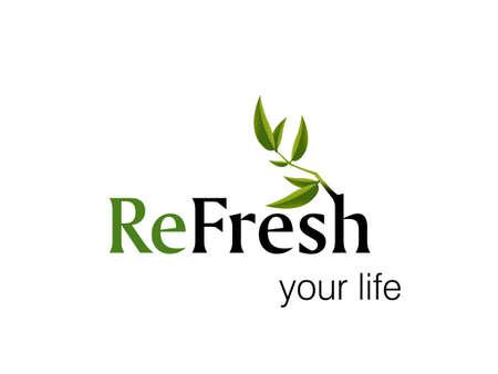 logo recyclage:  illustration de la conception de logo. Illustration